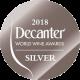 Decanter silver medal Sweet by Tokaj 2016